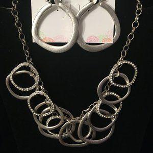 Silver Hoops Necklace & Earringsby Premier Designs